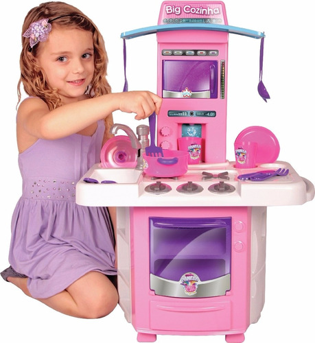 big cozinha infantil completa c/ acessórios - frete grátis