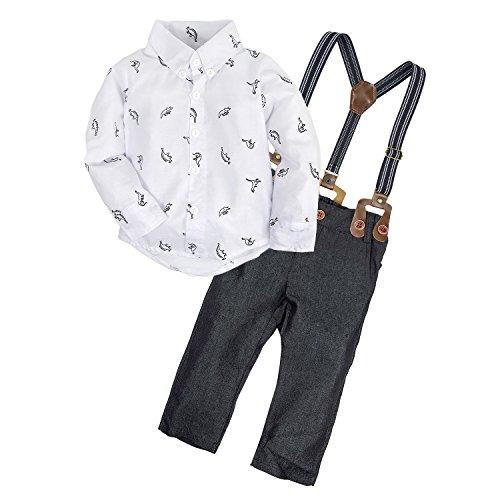 big elephant 2 piezas baby boys camisa de manga larga conjun