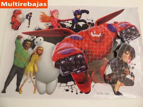 big hero 6 stickers grandes heroes tridimensional