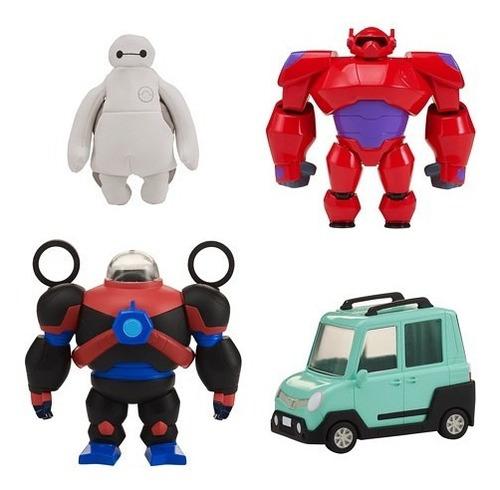 big hero set vehiculo c/baymax + acc int 41285 original