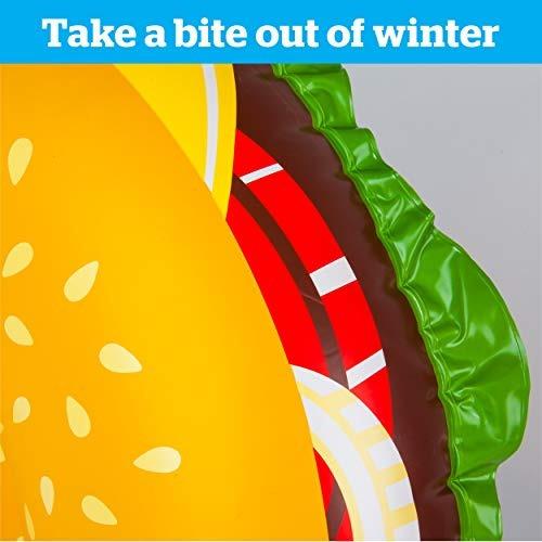 big mouth bigmouth giant supreme pizza snow tube ride on
