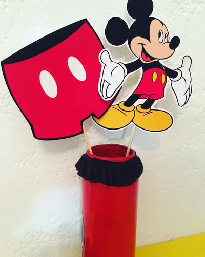 big toppers para centros de mesa mickey mouse cotillón deco