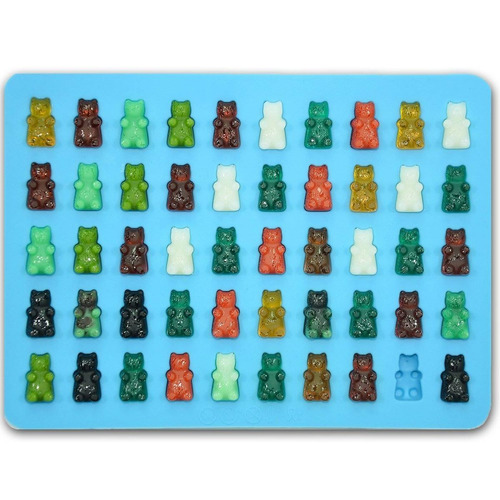 bigear 2 pack silicona mini gummy bear moldes + envio gratis