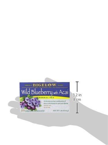 Bigelow Tea Wild Blueberry Con Té De Hierbas Acai, 20 Unidad