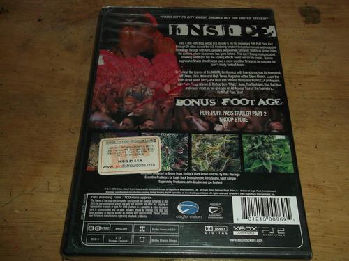 bigg snoop doggs live tour dvd nuevo sellado puff puff pass