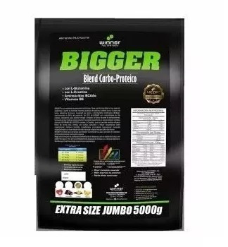 bigger 5kgsuper promotor de masa muscular mas regalo