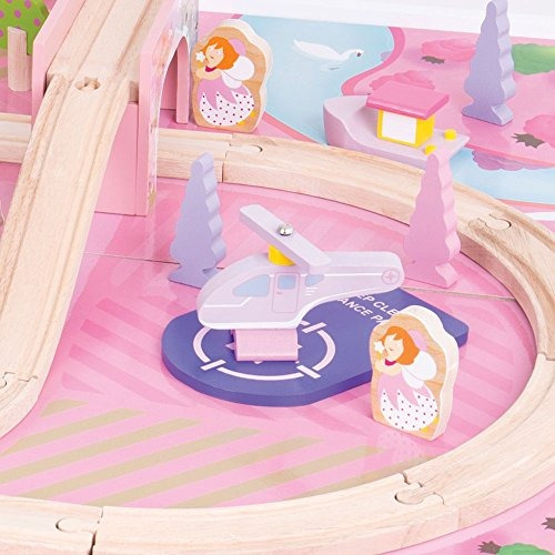 bigjigs rail magical wooden train set y table 59 play piece