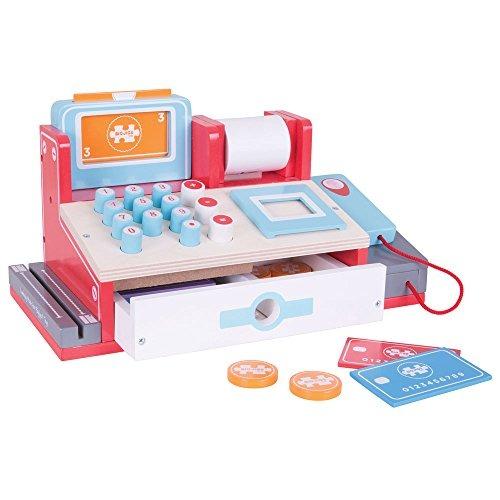 Caja Toys Registradora De Bigjigs Juguetes Madera Con LSzVqpMGU