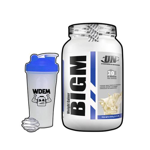 bigm 2kg, 5kg ganador de peso y masa muscular + shaker