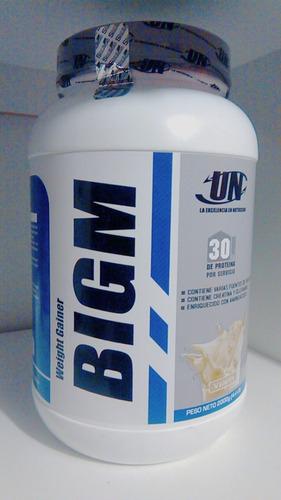 bigm 2kg ganador masa muscular peso + shaker de regalo