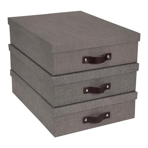 bigso oskar canvas paper laminate letter caja de almacenamie