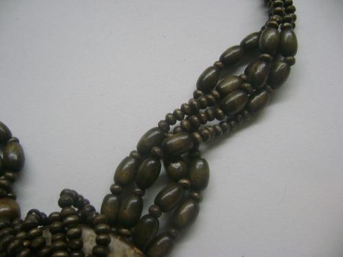bijouteria - colar de coco - lote 15 pçs