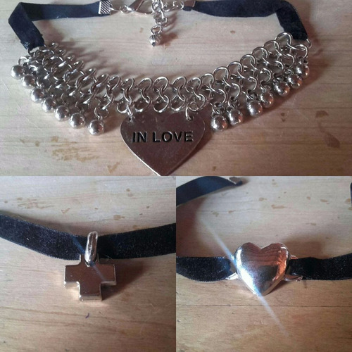 bijouterie collar choker artesanal lote x 10u. verano '18