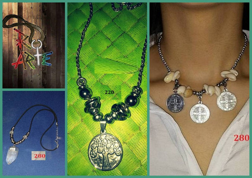 bijouterie roarte.cadena,cordon,medallas,piedras.caracoles