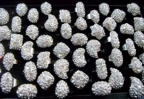 bijuteria fina kit com 36 anel no atacado para revenda top
