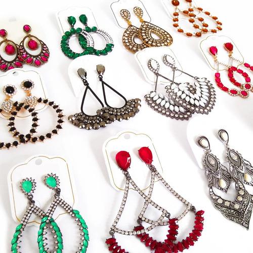 bijuterias finas kit 25 max brincos atacado - frete grátis