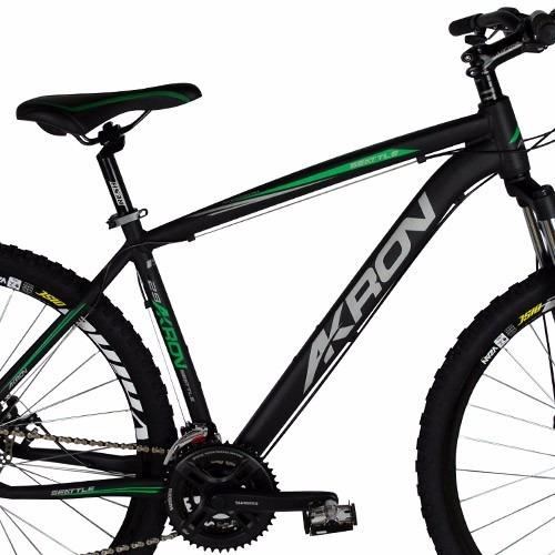 bike akron aro 29 27v shimano freio disco quadro alumínio
