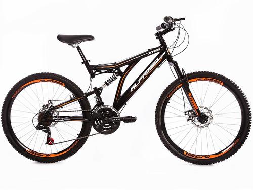bike alfameq xrs full suspension aro 26 freio disco 21v