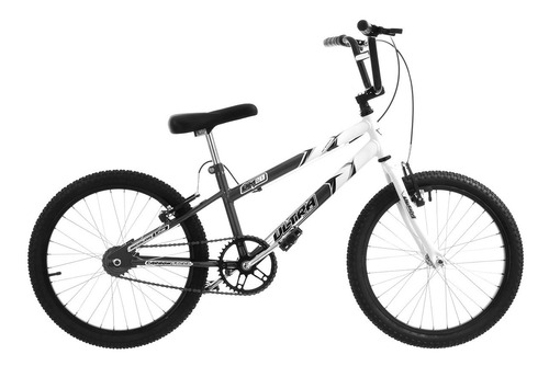 bike aro 20 masculina cinza/branca v-brake pro tork ultra