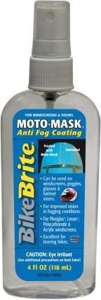bike brite moto-máscara anti-niebla recubrimiento 4 oz..