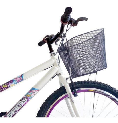 bike feminina aro 26 18 marchas com cesta