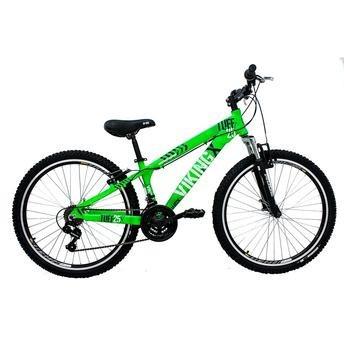 bike freeride 26 v-brake 21 vel shimano verde - vikingx