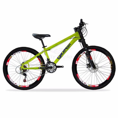 bike gios frx vmaxx shimano 21v freio disco suspensão gordo