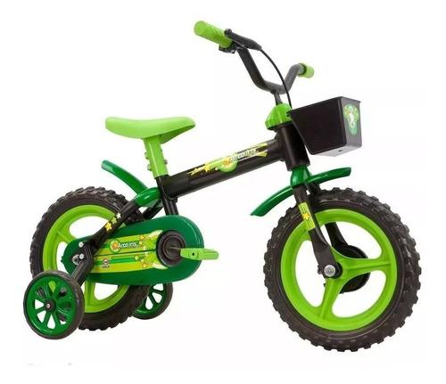 bike infantil track & bikes aro 12 preto e verde vitrine'