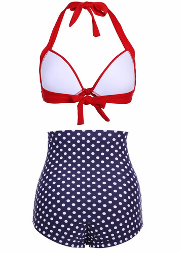 bikini | biquini vintage, retro, pin up blue1 pronta entrega