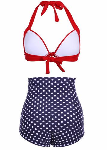 bikini | biquini vintage, retro, pin up blue2 pronta entrega