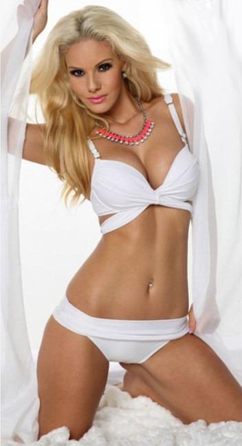 Playa De Talla Traje Vacacione Chica Dama Bikini Blanco Baño W9EYH2DI
