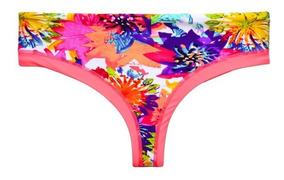 a4bc84f0efb4 Bikini Calzón Tanga Tiro Alto Estampado Naranja