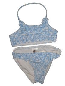 b7e50634cef7 Bikini Celeste C/florcitas Blancas De H&m !!!