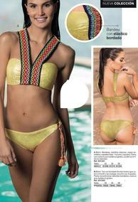 4d4c10bde1ea Bikini Colombiano Bra Banda Bordada Levanta Cola Metálico