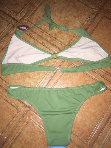 23aa50716530 Bikini Color Verde Triangulo Corpiño Talle 6 Y Bombacha
