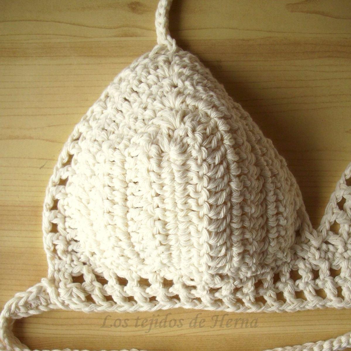 Bikini-corpiño-top Tejido A Crochet - $ 250,00 en Mercado Libre
