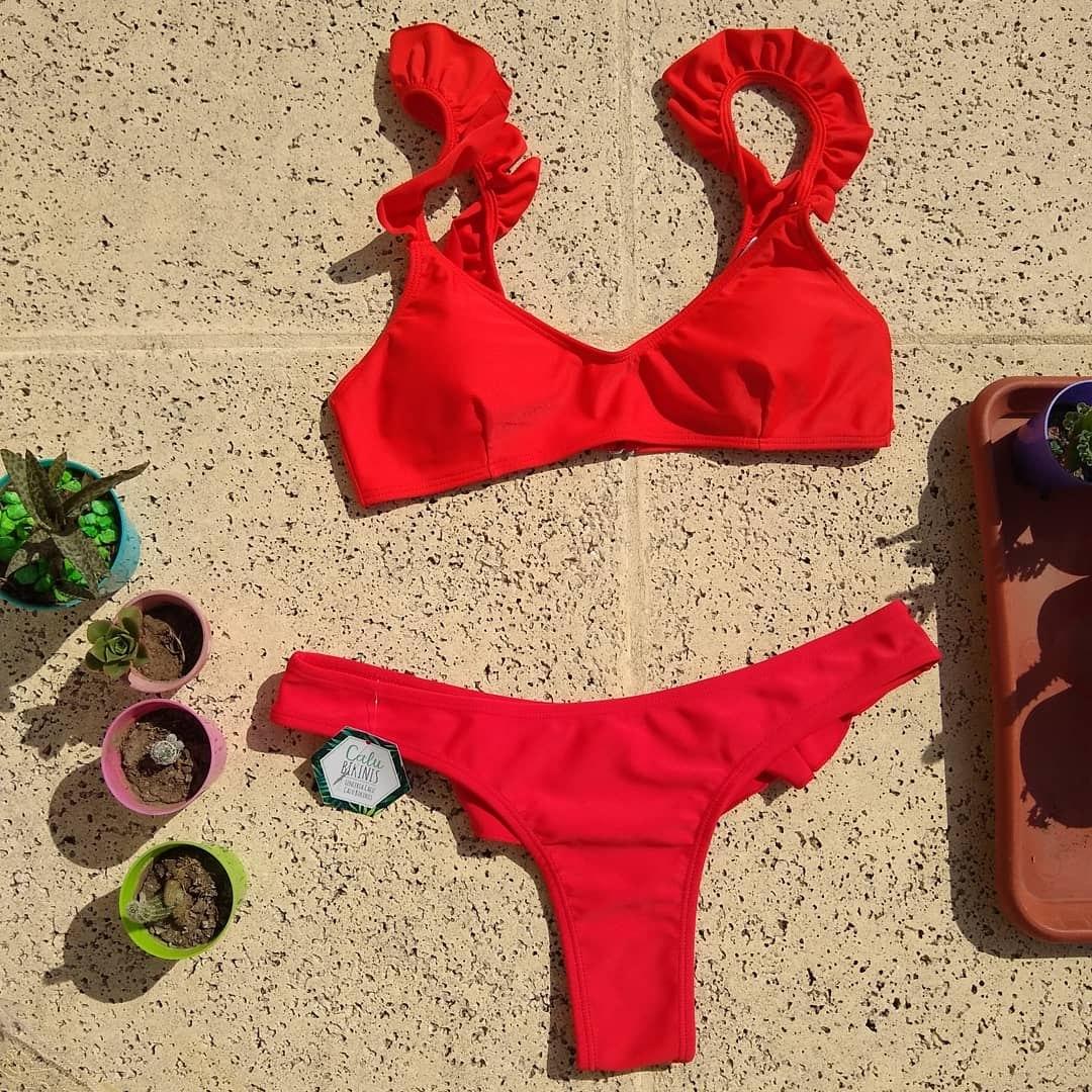 Corpiño Con Bikini Y Vedetina Media Cola Volados QrsdthC