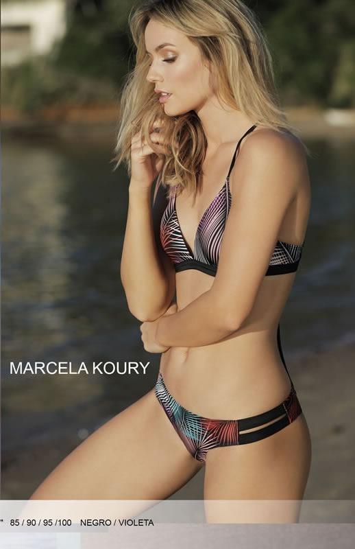 9d256b58652b Bikini En Tricot Malla Push Up Con Vedetina. Marcela Koury