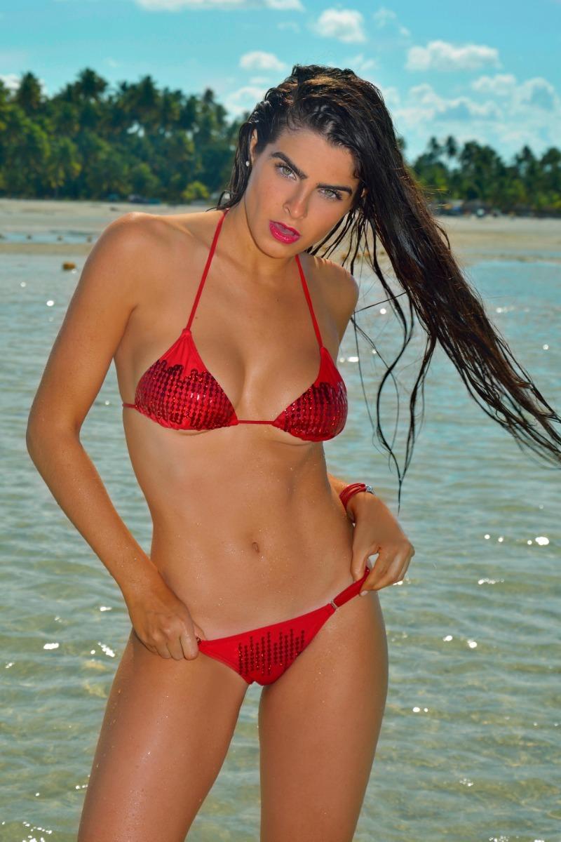 8cbcef35f4 Bikini Ksi Verano 2019 Conjunto Caiman Rojo - $ 985,00 en Mercado Libre