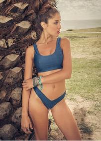 Fluor Y Trajes Accesorios En Bano Ropa 2017 Bikinis Azul Bikini yYb6gvf7