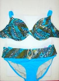 087ea76578ca Bikinis Cruzadas Con Rayas De Colores Talle 1 - Enterizas, Bikinis y ...