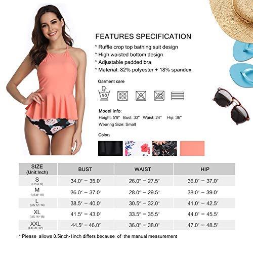 bc65d9e4be4b Bikini Marina De Dos Piezas Para Mujer De Cintura Alta