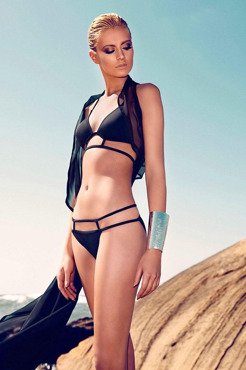 Baño Traje Sexy Chica De Dama Bikini Negro Playa Moda Talla O80NnwkXP