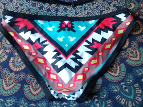 M Nuevo Bikini S Talla Estampado Completo Étnico uK3FTJcl15