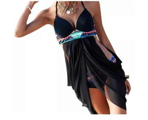 bikini push up vintage hermoso traje de baño mujer cover up