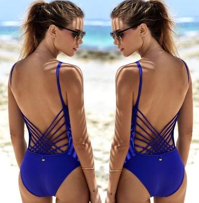 bikini retro vintage, traje de baño completo hermosa espalda