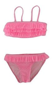 54e0621008b5 Bikini Rosa Fluo C/pintitas Blancas De H&m !!!