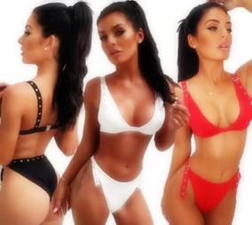 f8bd0c7e2138 Bikini Sexy 2019 Brasileño Cintura Alta Ajustable Con Ojales