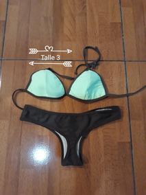 7d301e4013b8 Bikini Talle 3 Color Marron Y Verde Manzana