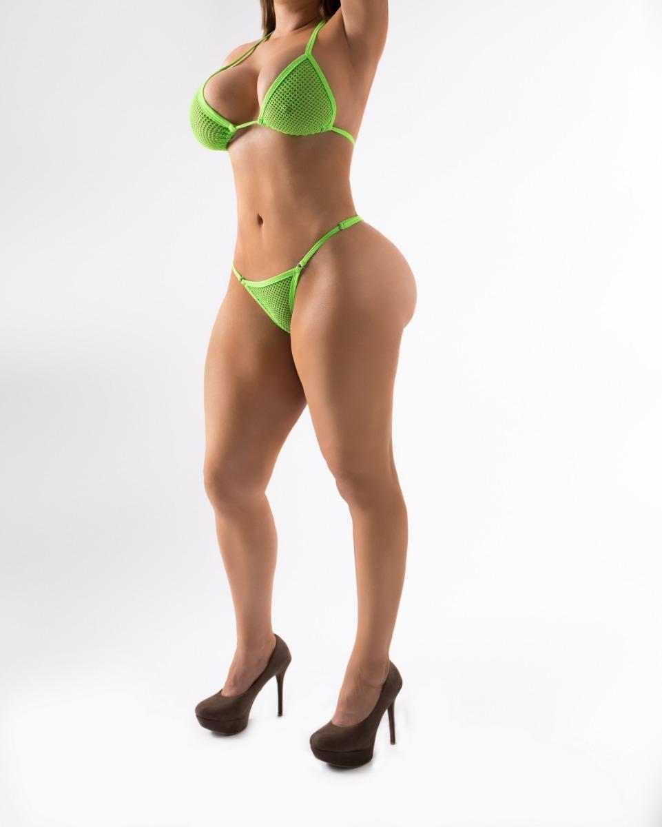Bikini Tanga Transparente Atrevido Sexy Lenceria Moda Mujer